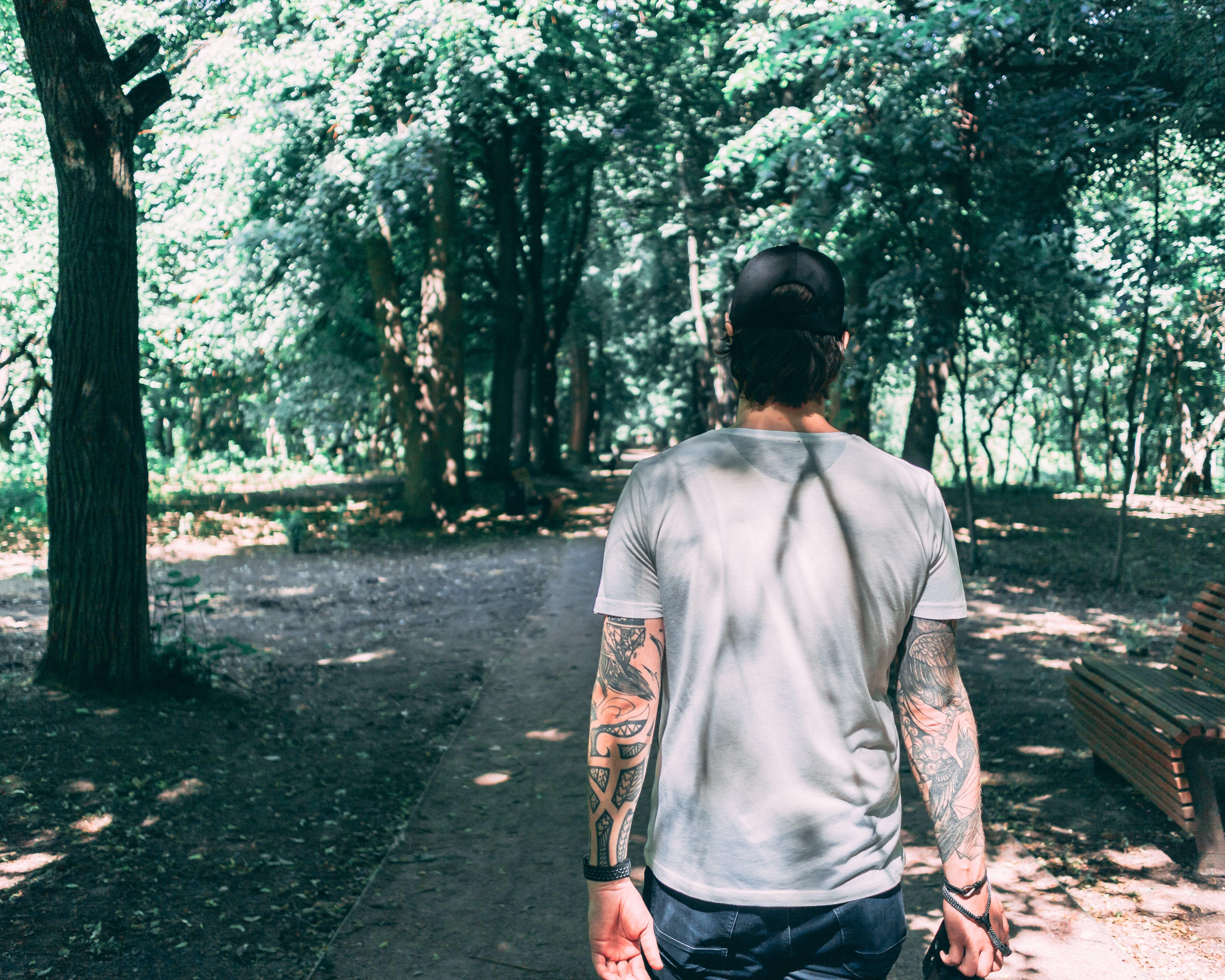 Man Walking At The Park
