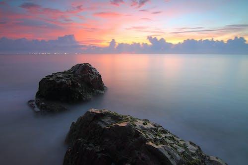 Kostnadsfri bild av dimma, gryning, hav, havsområde