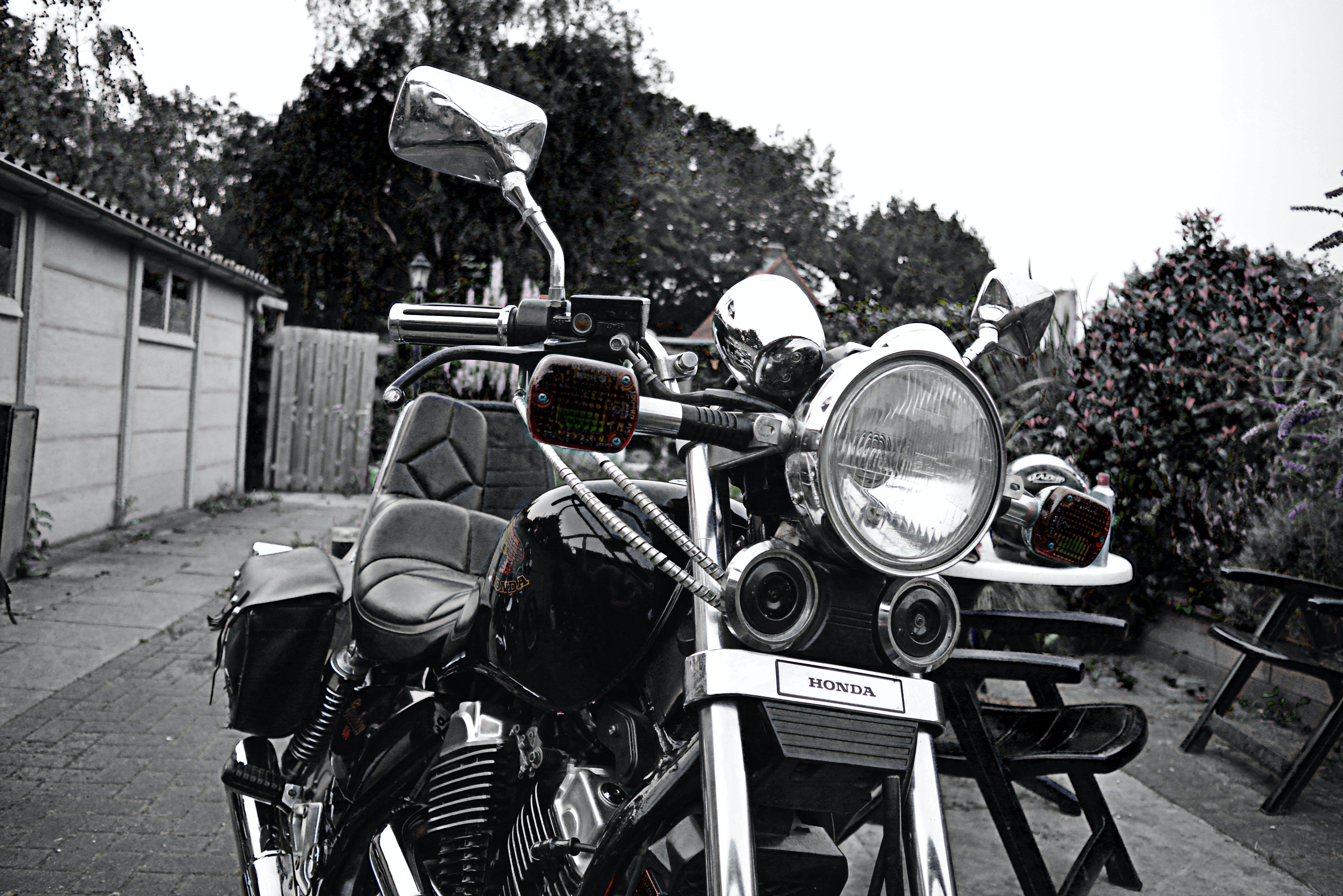 Free stock photo of 1985, 500 cc, chopper, chrome