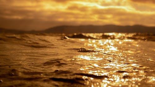 Gratis stockfoto met structuur, water textuur, zonsondergang