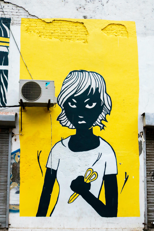White and Yellow Woman Graphic Art · Free Stock Photo