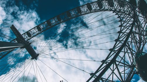 Worm's-eye Photography of Ferris Wheel