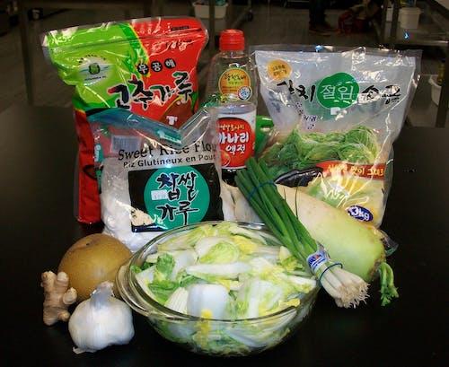 Free stock photo of fermentation, fermented foods, kimchi, kimchi ingredients