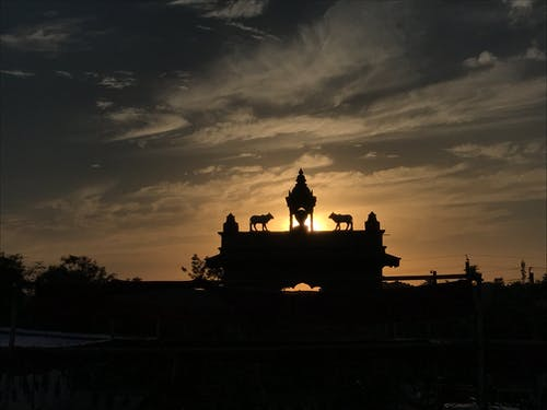 Free stock photo of cloud, gate, sunset, temple