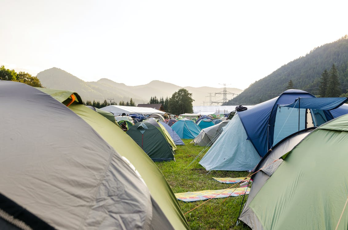 Tents on the Ground
