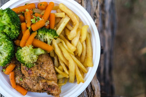 감자, 감자튀김, 건강한, 고기의 무료 스톡 사진