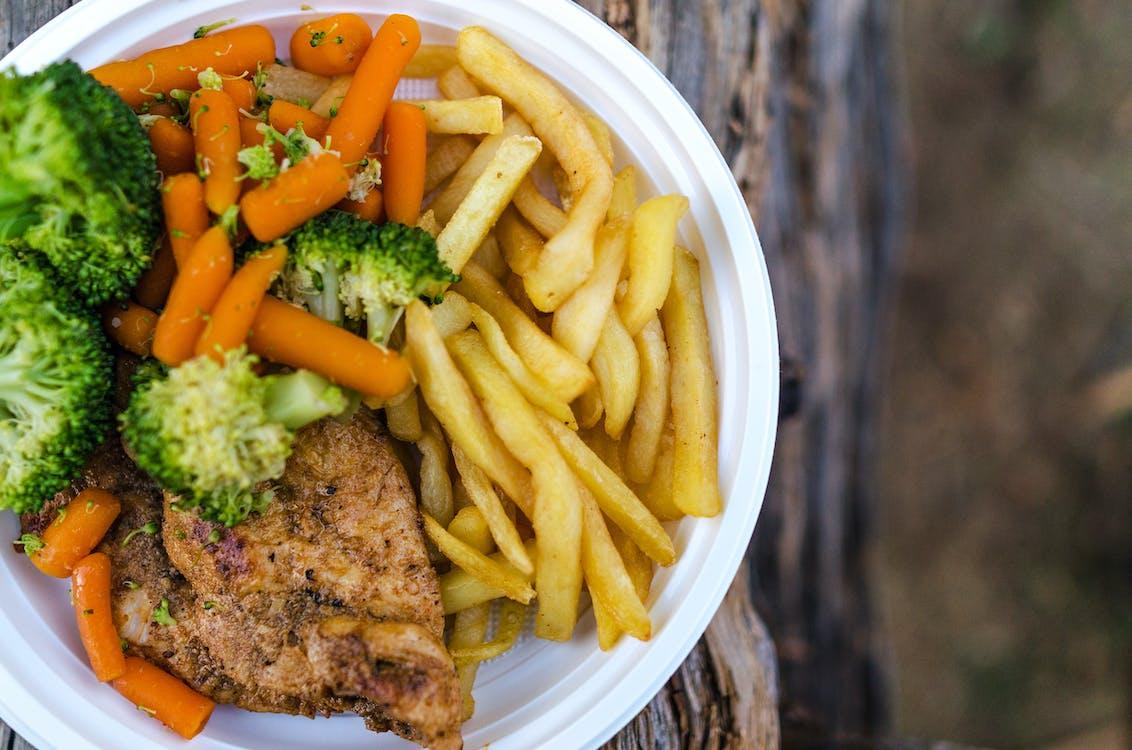 brokkoli, burgonya, csirke
