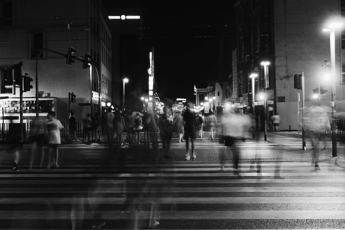 ban đêm, các tòa nhà, kiến trúc