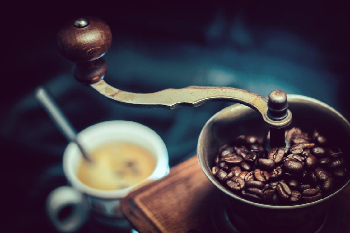 antikk, aroma, brente kaffebønner