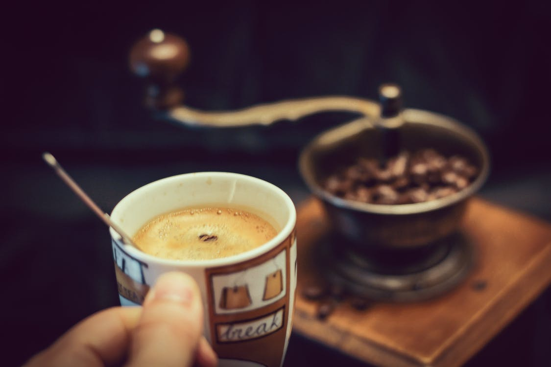 atrăgător, băutură, boabe de cafea