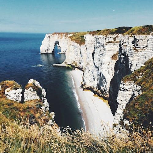 埃特爾塔, 太陽, 岩石, 岸邊 的 免費圖庫相片
