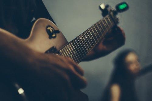 Ingyenes stockfotó elektromos gitár, gitár, tunerek témában