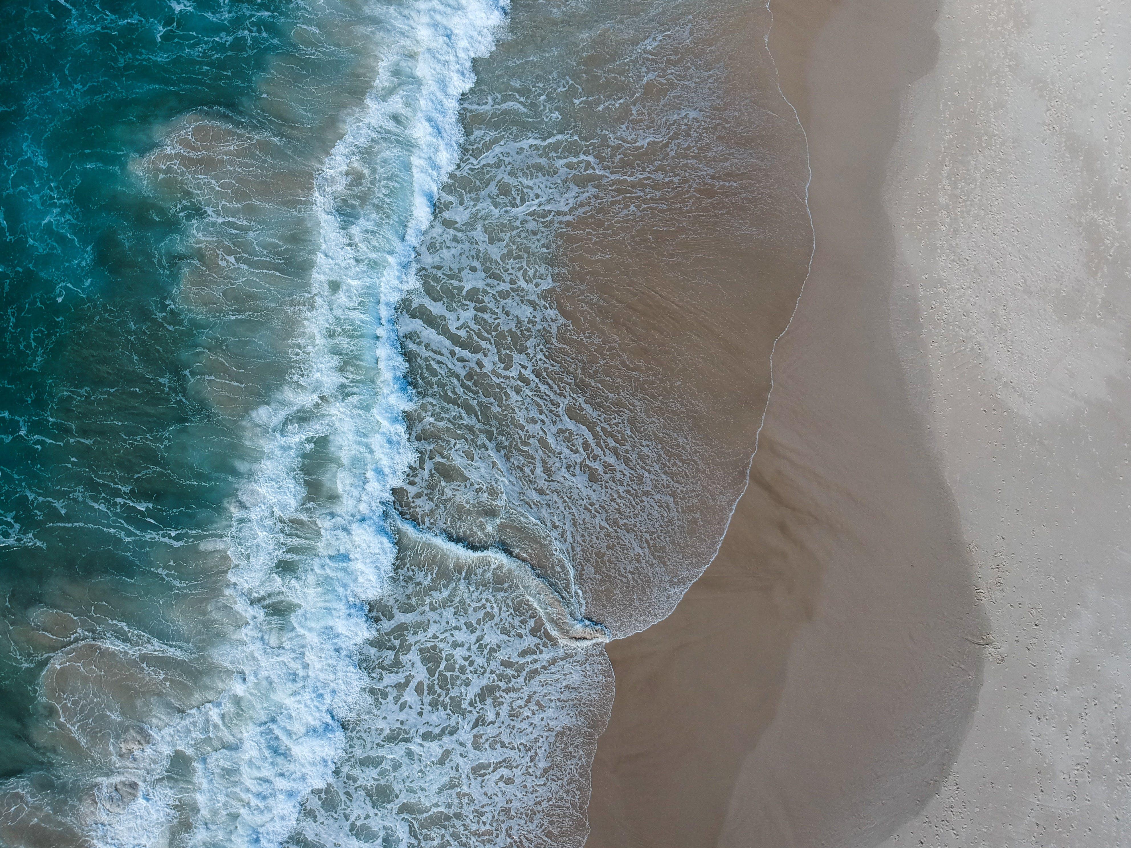 Gratis lagerfoto af bølger, dagtimer, fugleperspektiv, h2o