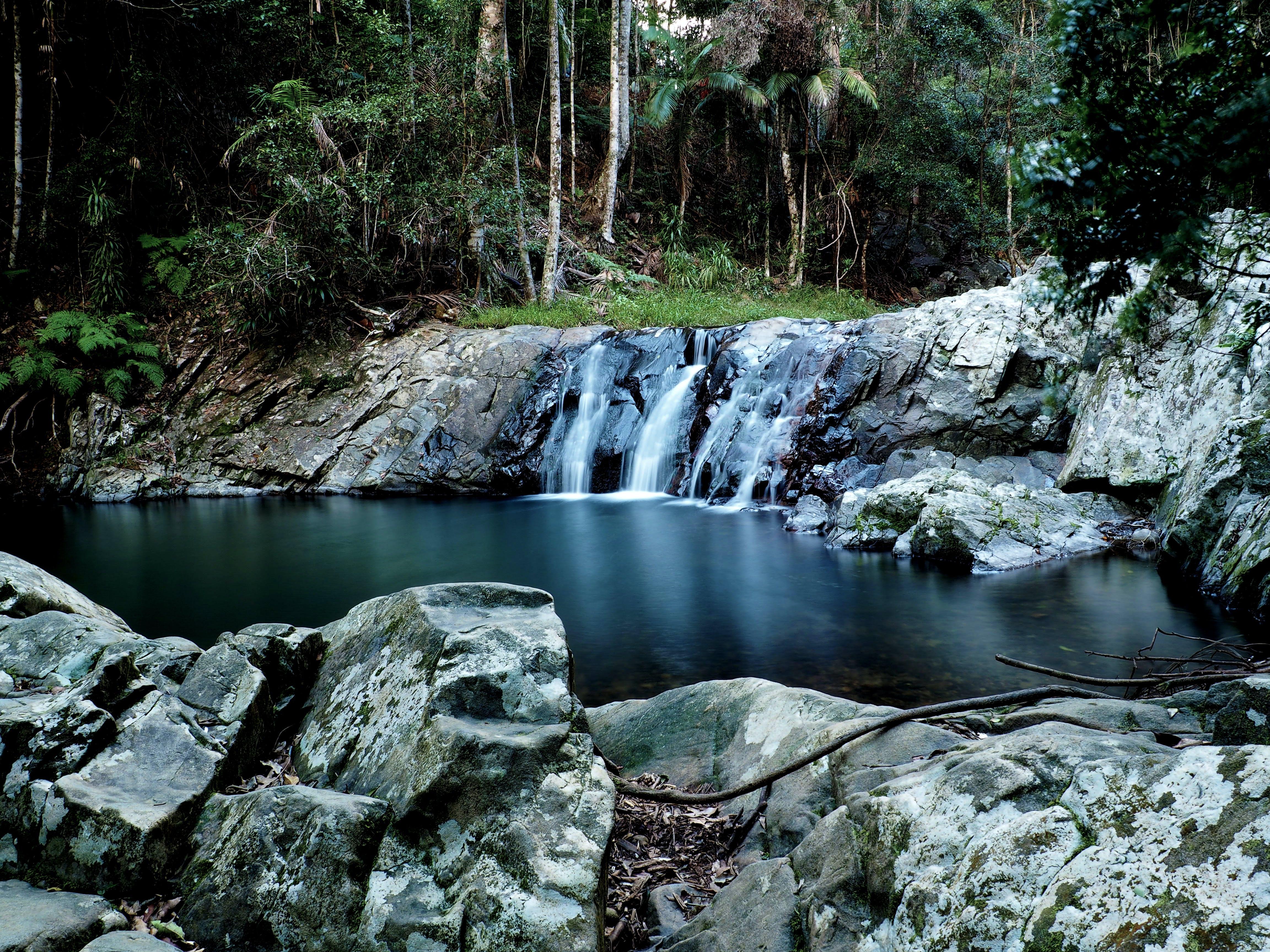 Close-up Photo of Small Waterfalls