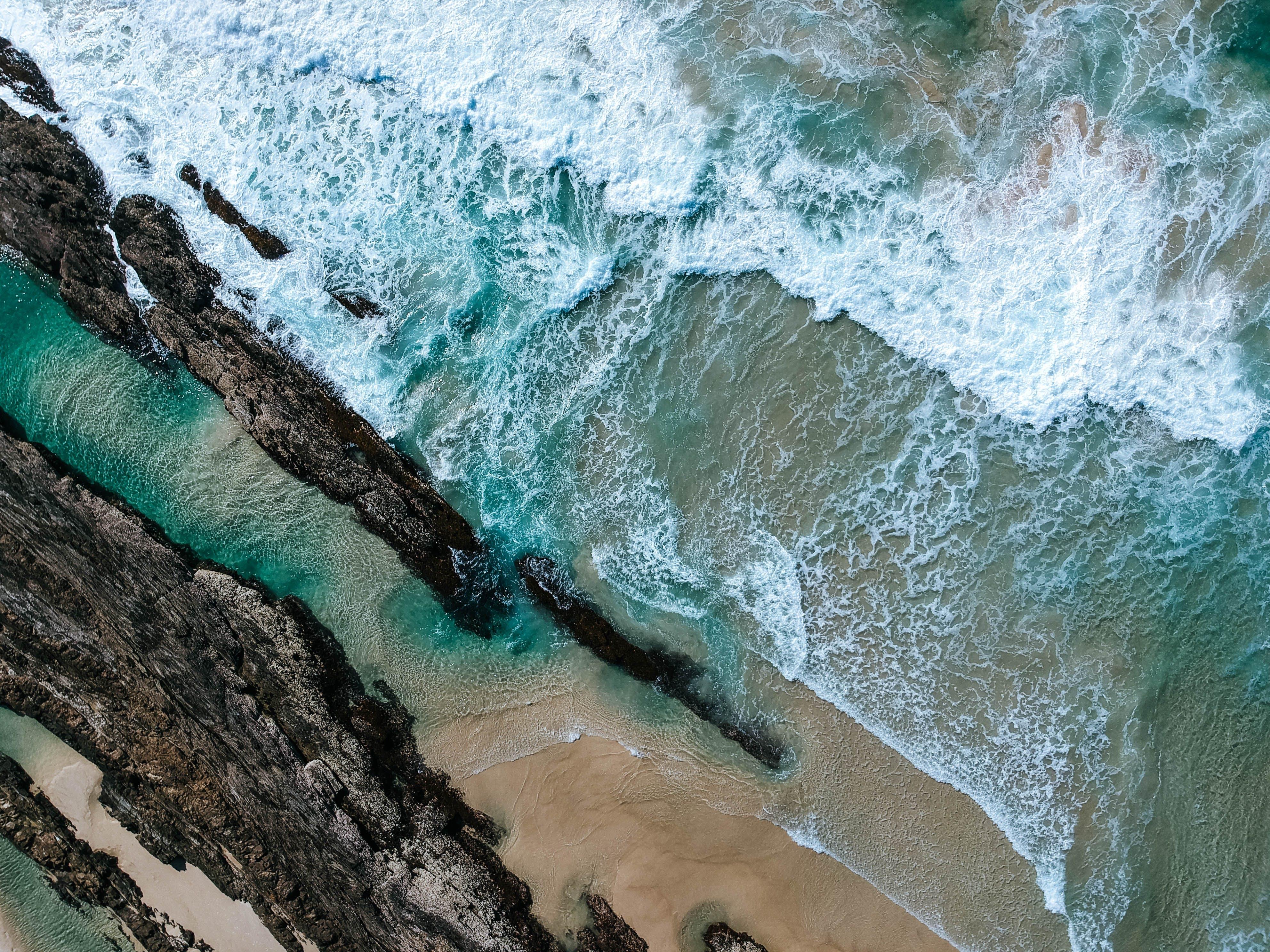 Aerial View of Ocean Wave