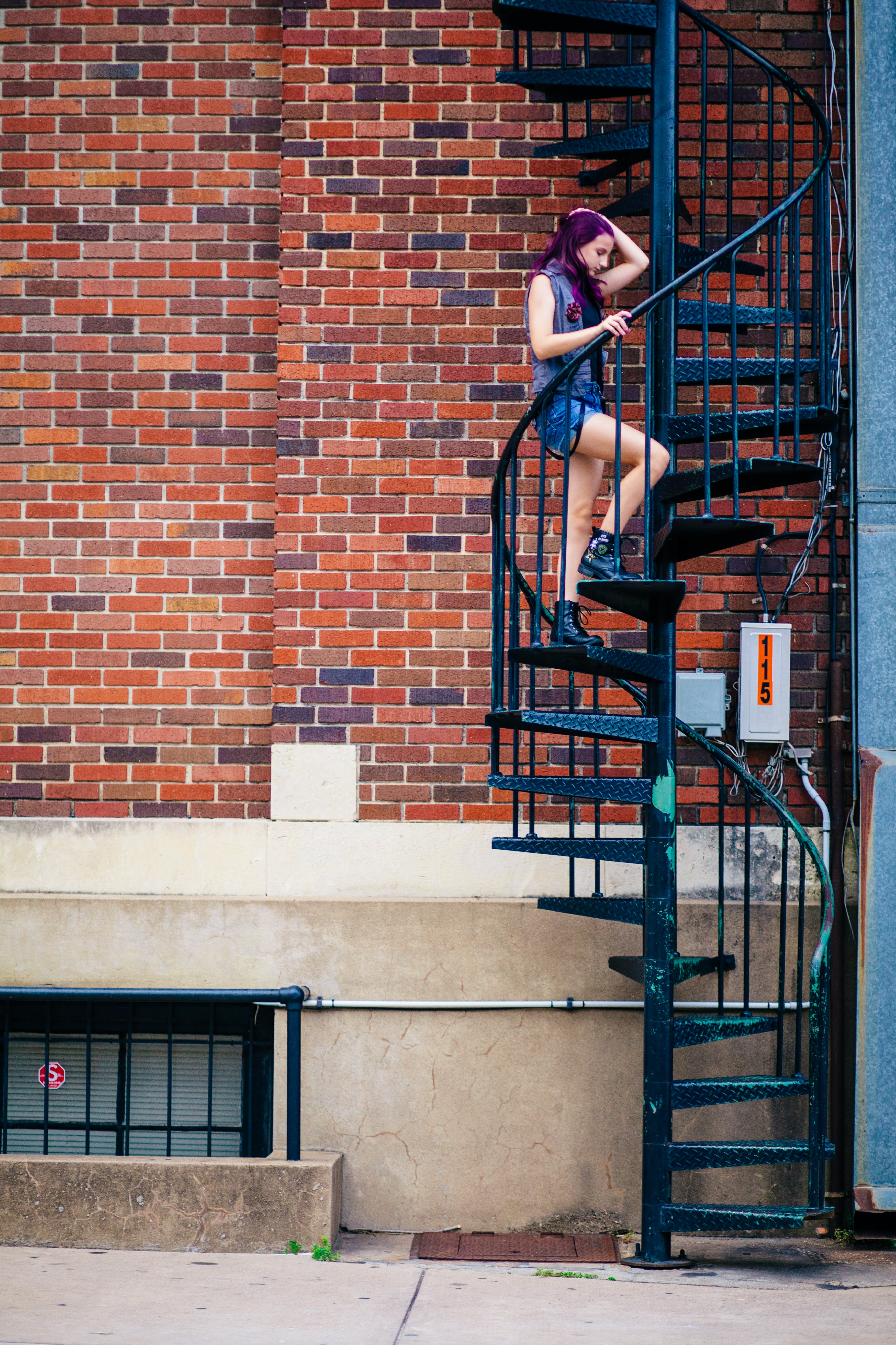 Woman on Spiral Stairs