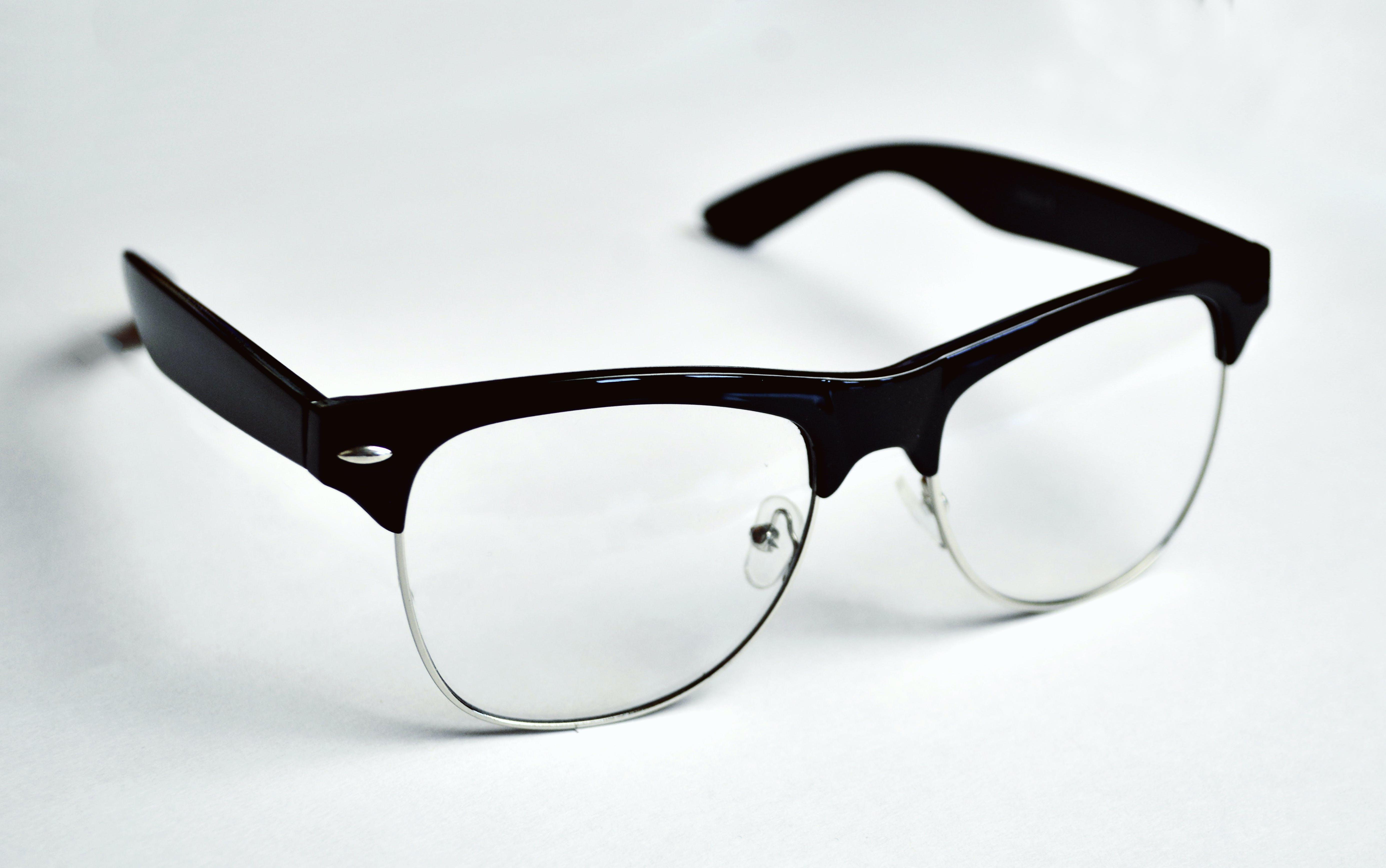 Black Framed Clubmaster Style Eyeglasses