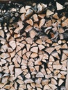 wood, firewood, stack