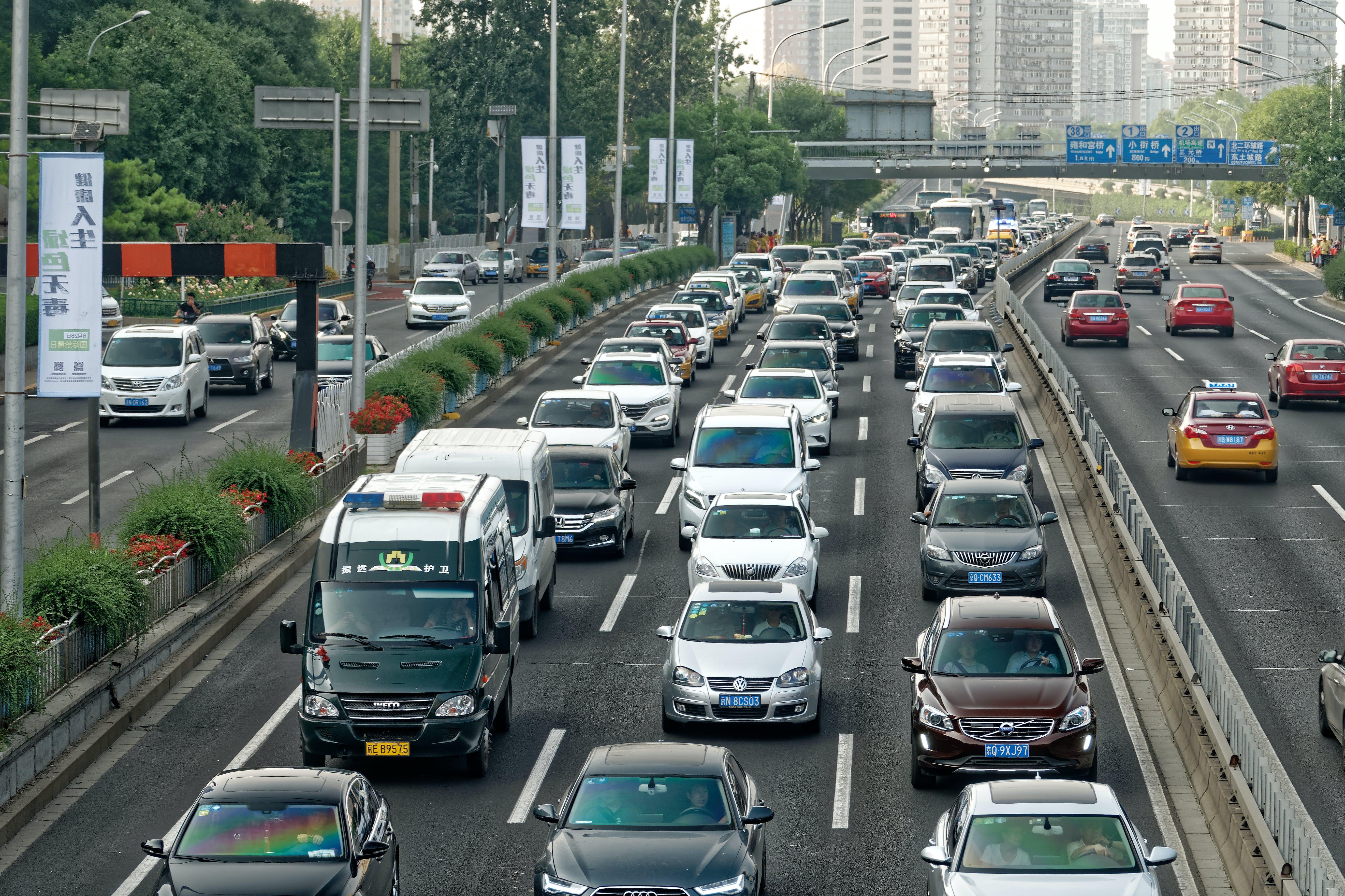 cars, china, congestion