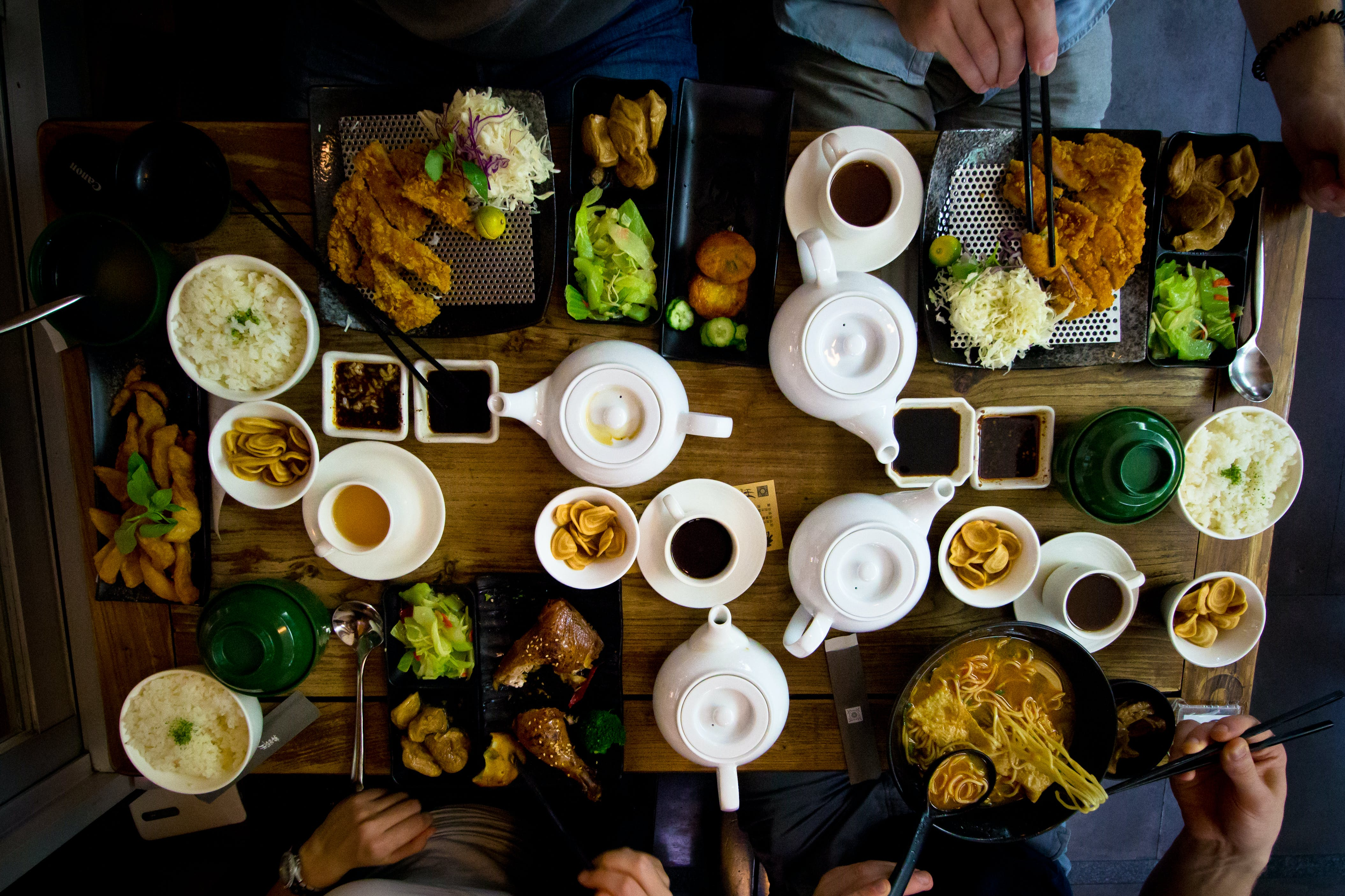 Free stock photo of asian food, food, table