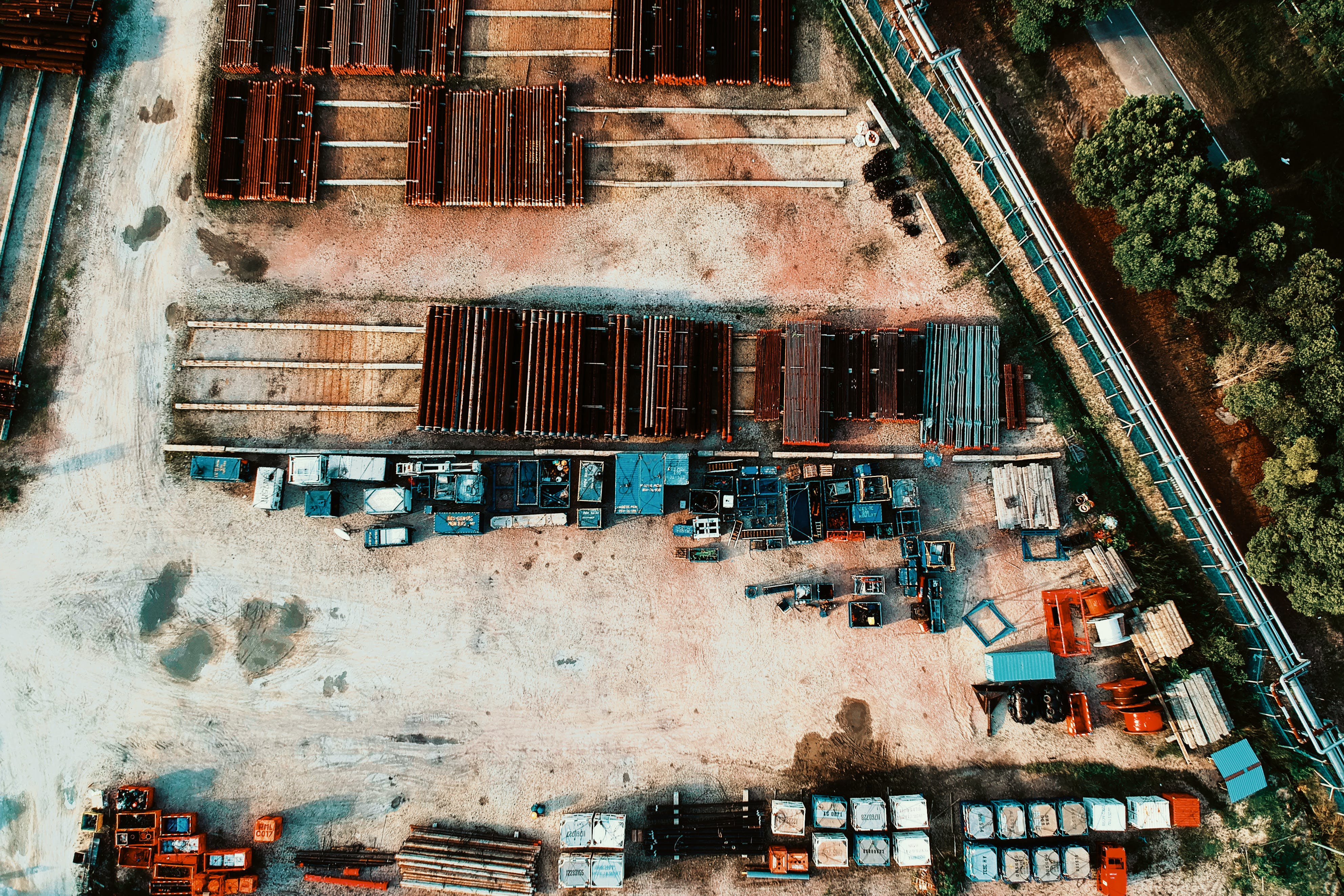 Aerial View Photography of Metal Factory