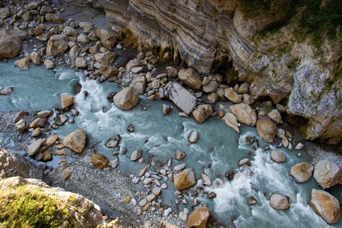 Free stock photo of asia, long exposure, riverbank, rock
