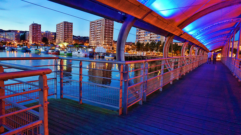Architectural Photography of Pedestrian Footbridge