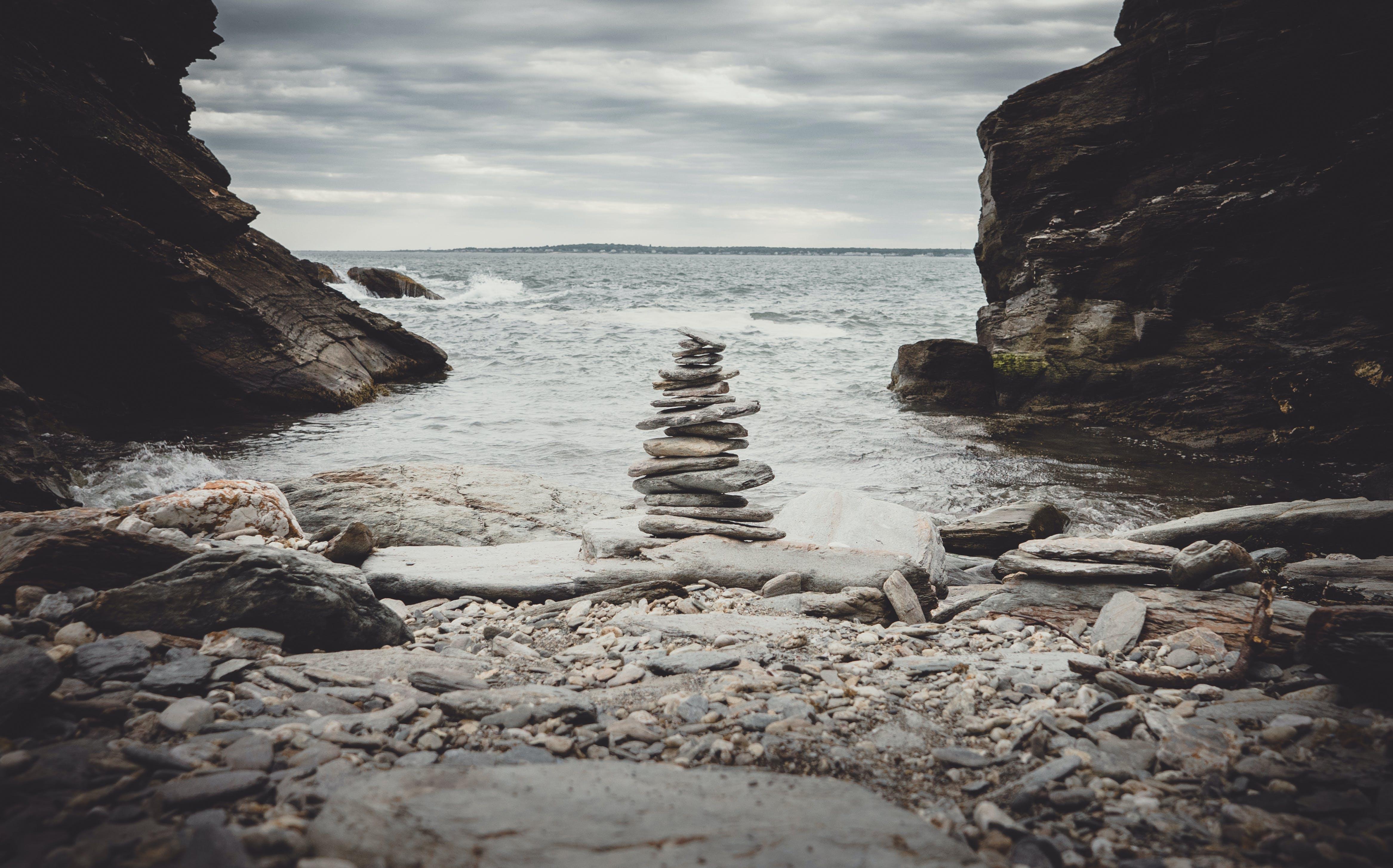 Free stock photo of landscape, ocean, rocks, photographer