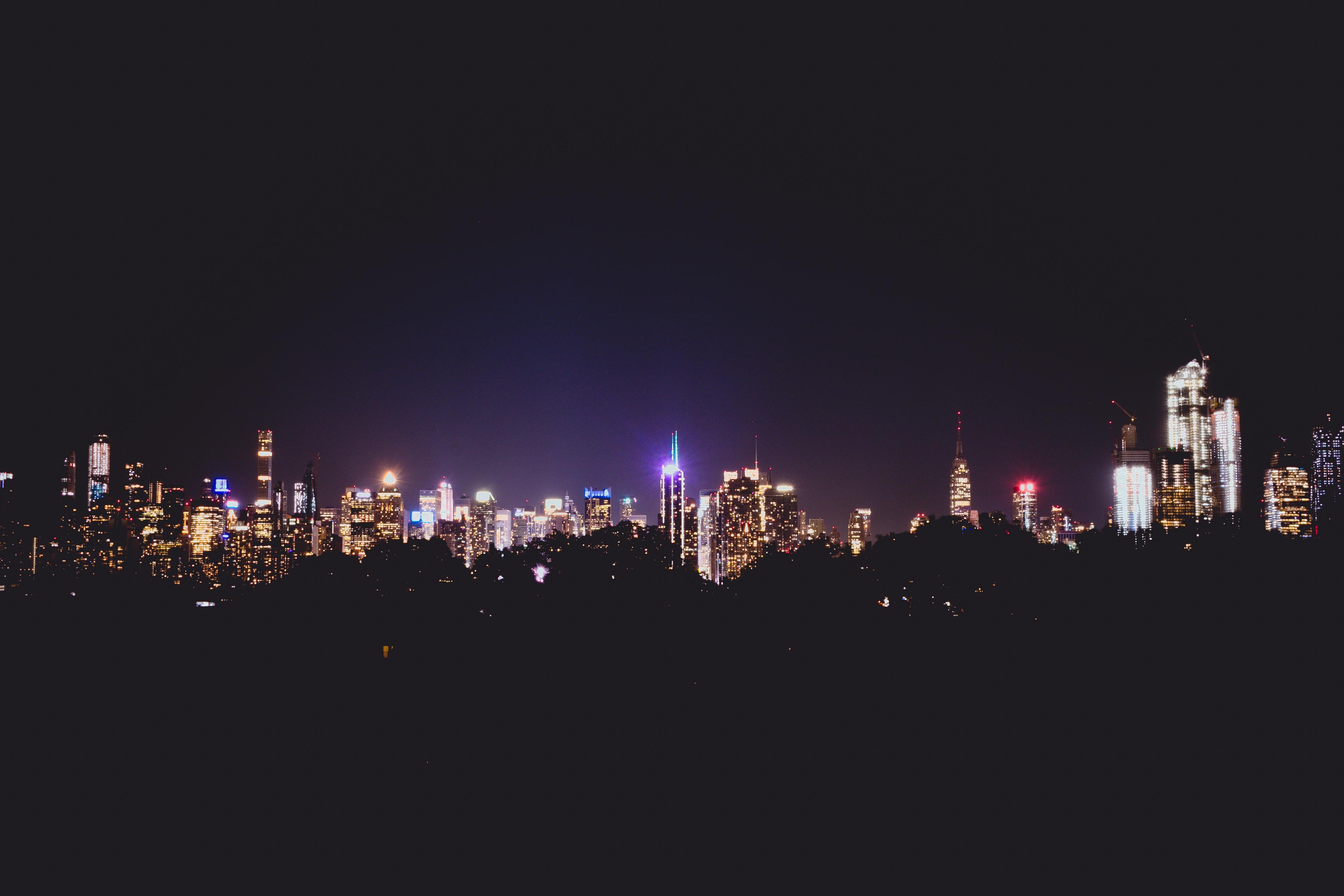 Foto Gratuita Di Citta Di Notte Manhattan New York