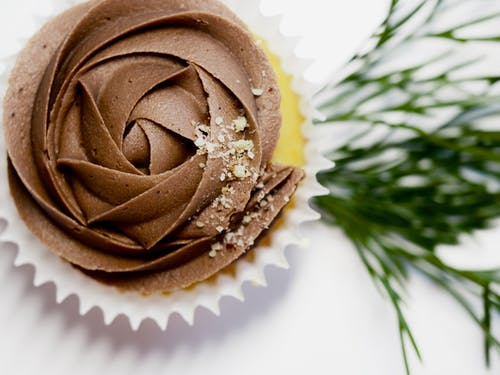 Cupcake With Chocolate Icing