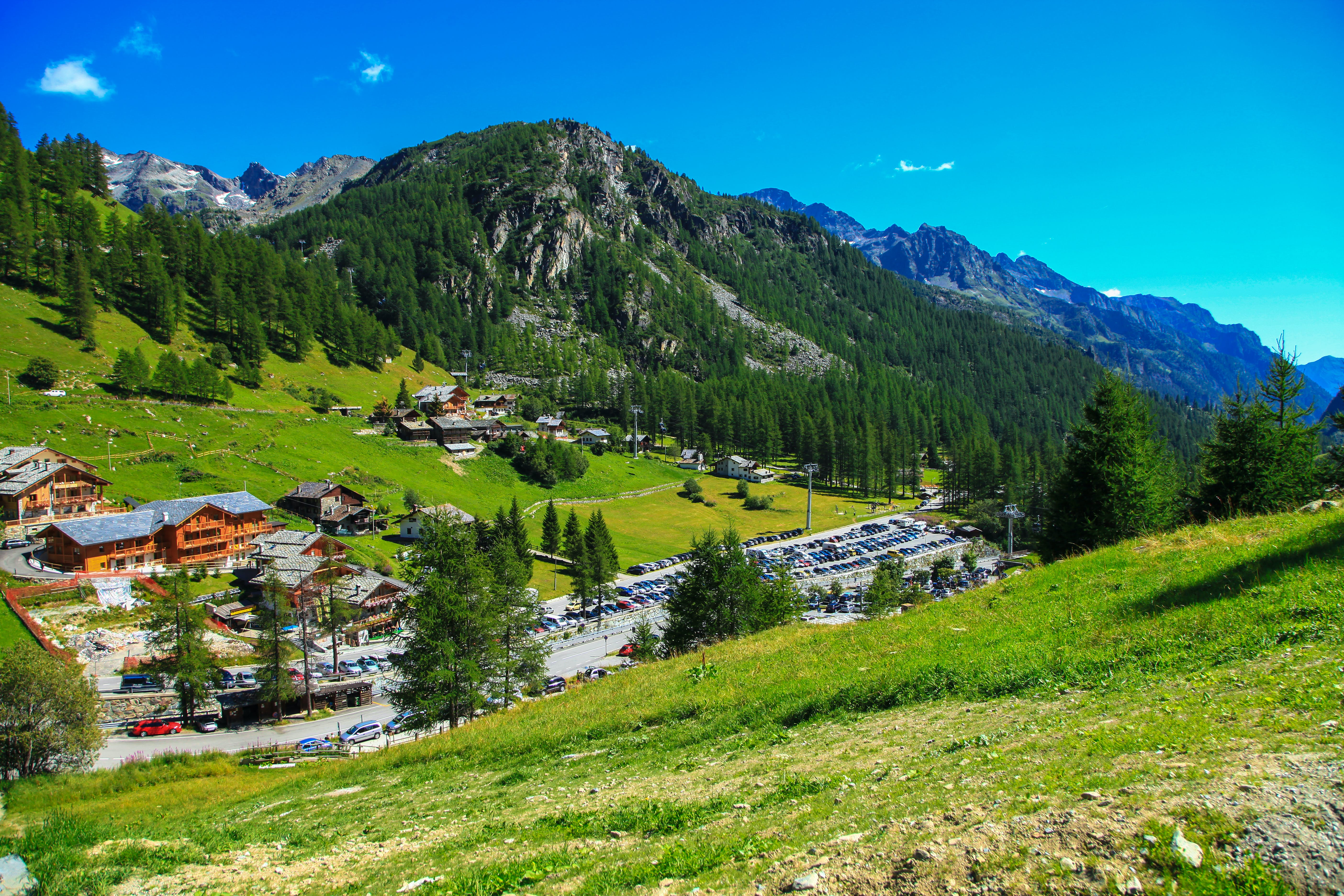 Free stock photo of mountains, holiday, vacation, village