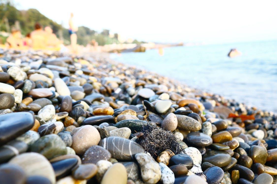 hloubka ostrosti, kameny, moře