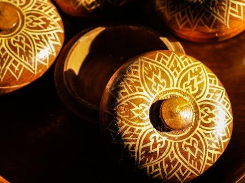 Gratis lagerfoto af brun, cirkulær, close-up, design