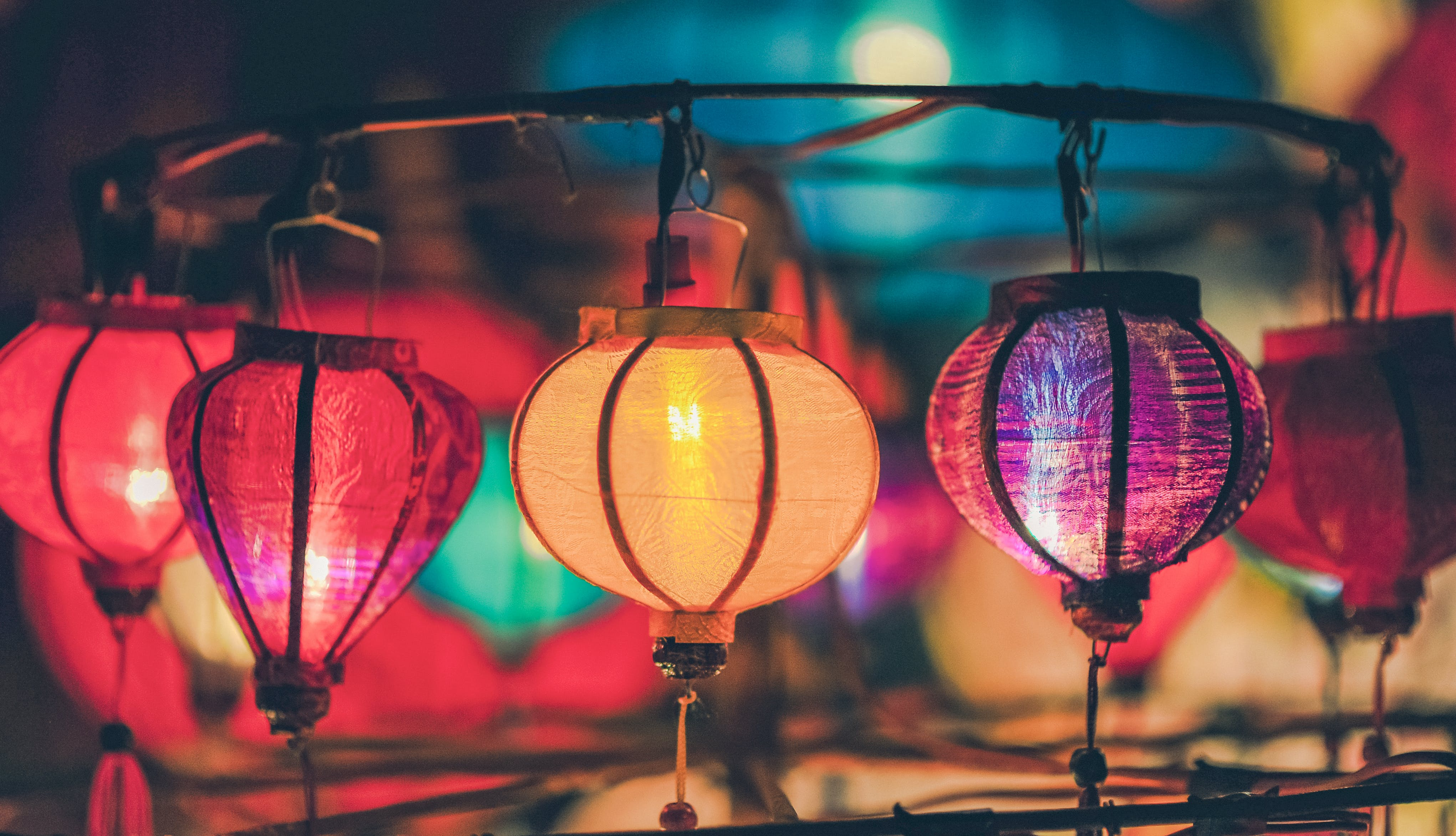 Shallow Focus Photography of Lanterns