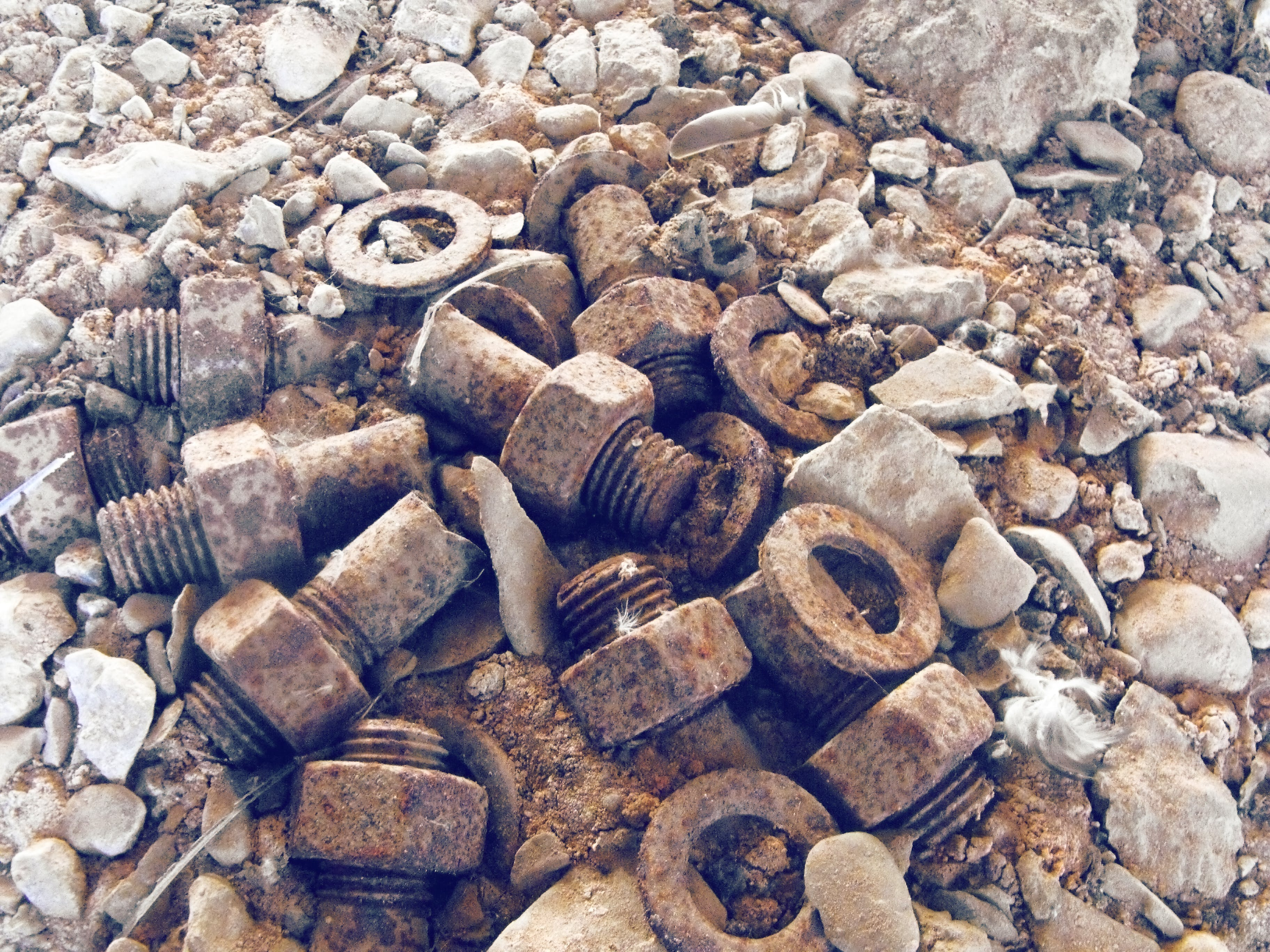 Free stock photo of ancient, bolts, bolts pile, details