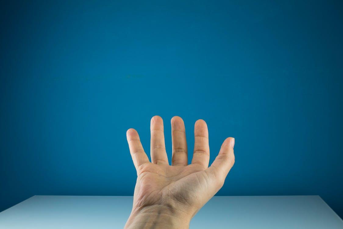 dłoń, dorosły, konceptualny