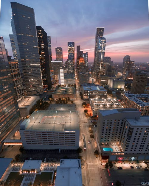 シティ, スカイライン, ダウンタウン, ヒューストンの無料の写真素材