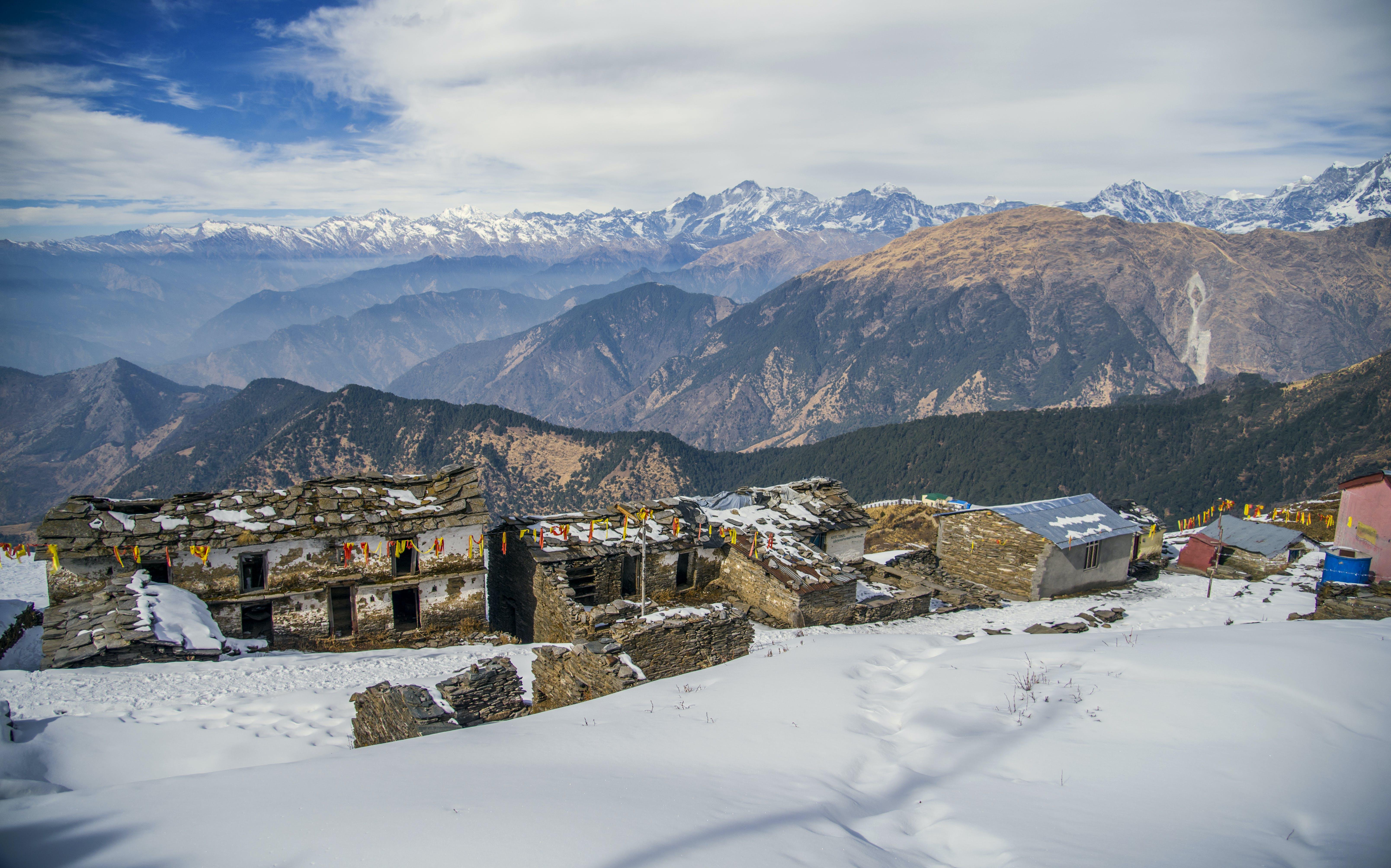 Concrete Structure on Mountain Range