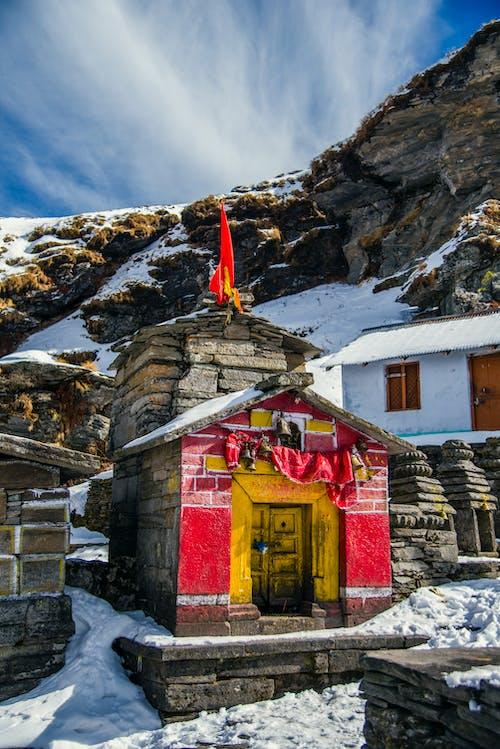 Ingyenes stockfotó építészet, épület, hegy, hó témában