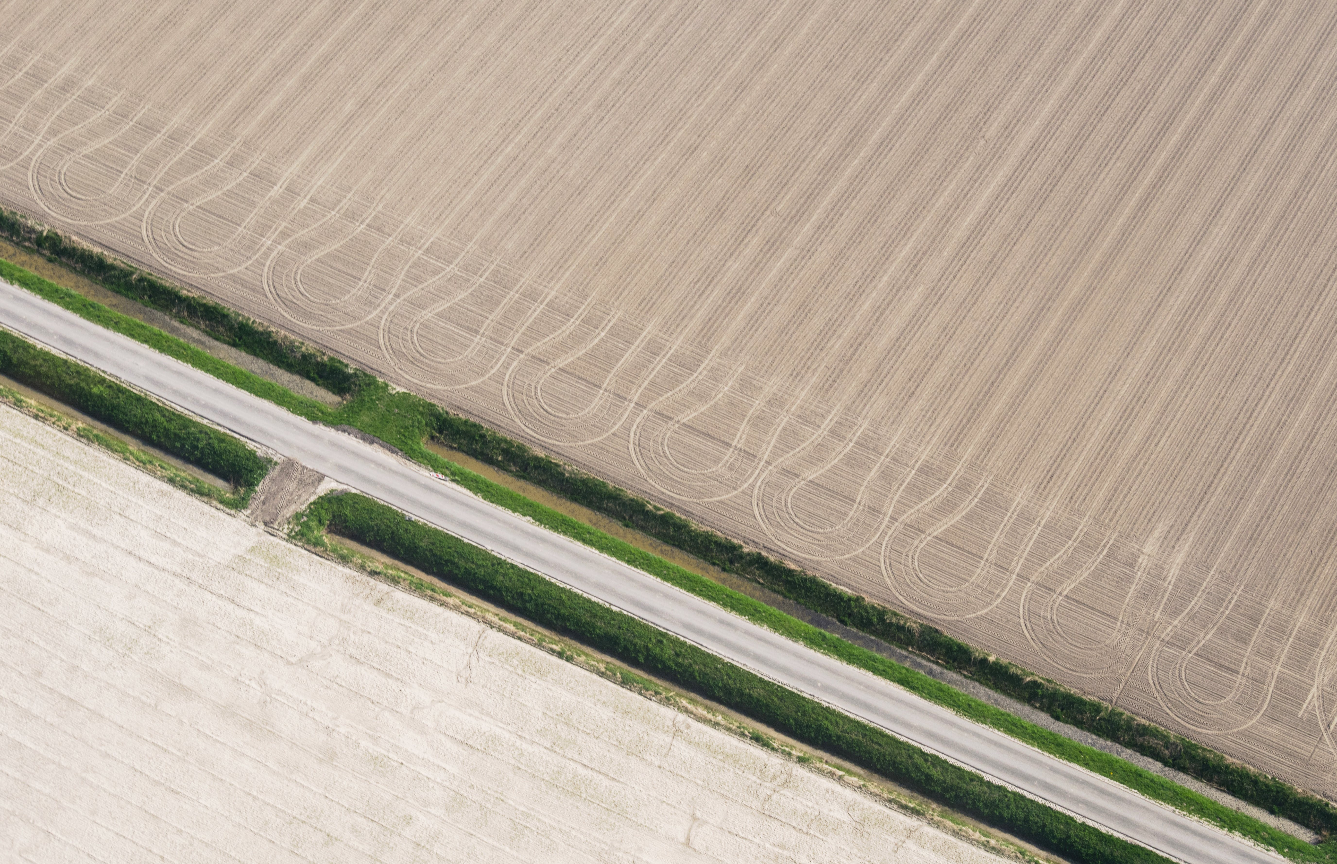 Aerial Photo Of Farm Field