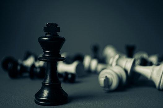 Kick Chess Piece Standing