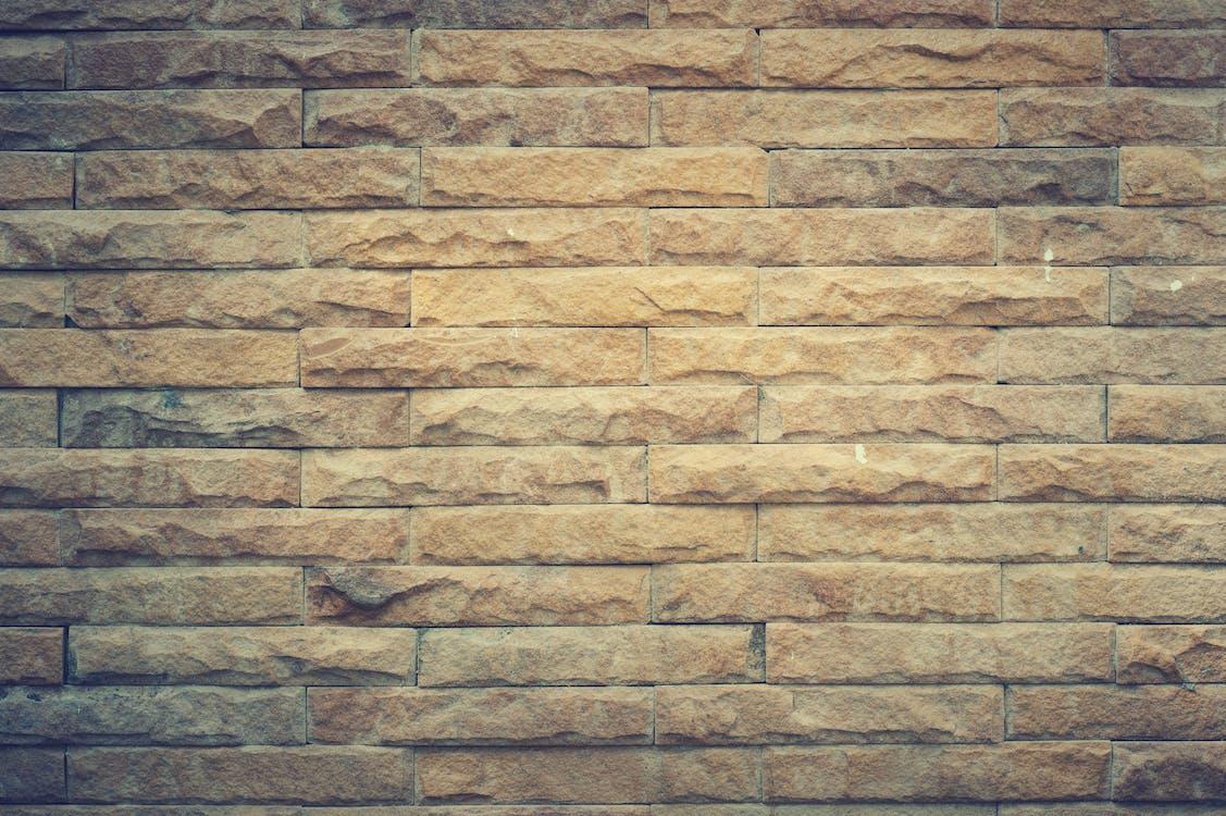 Muro Di Mattoni Giallo