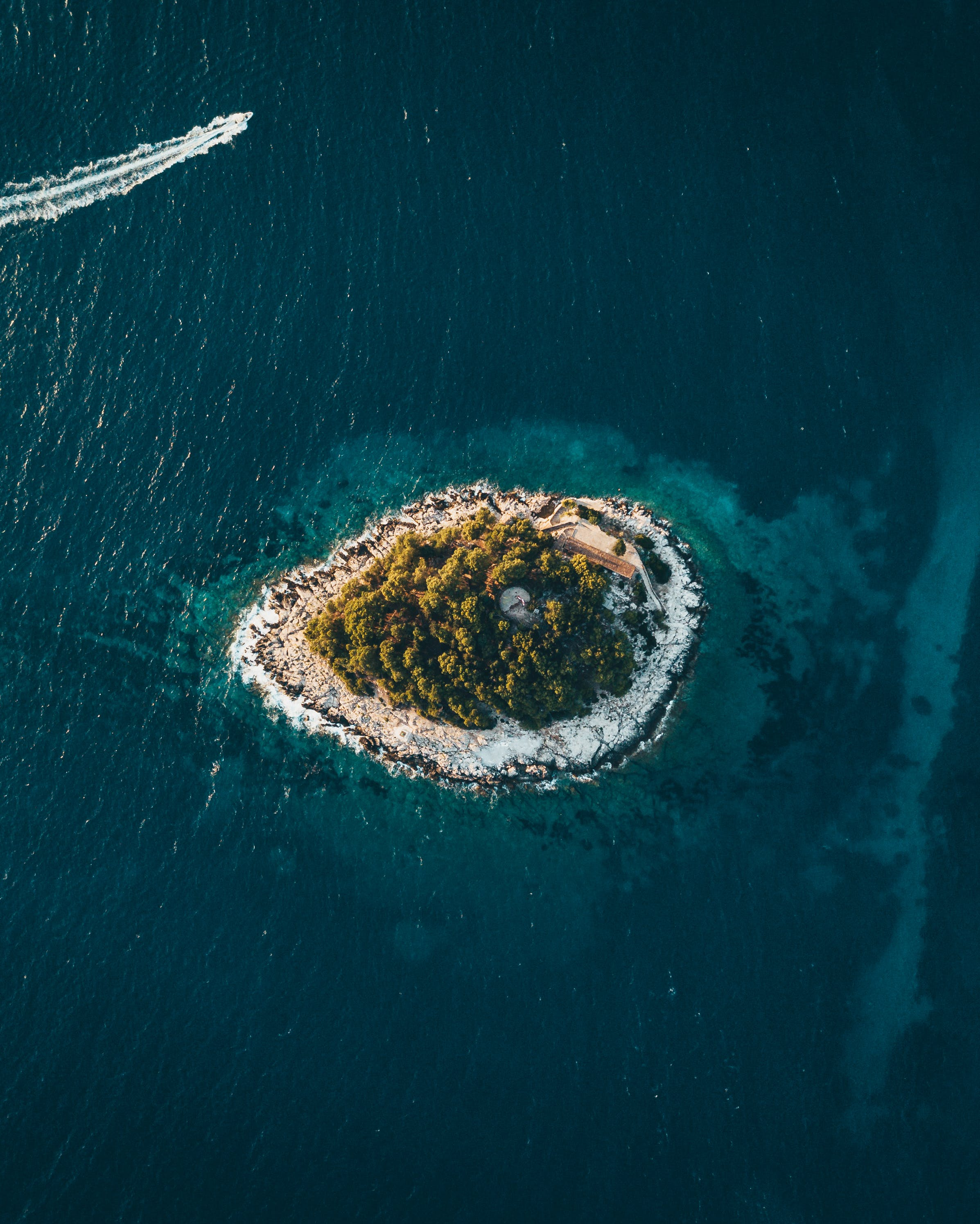 Bird's Eye View Photography Of Island