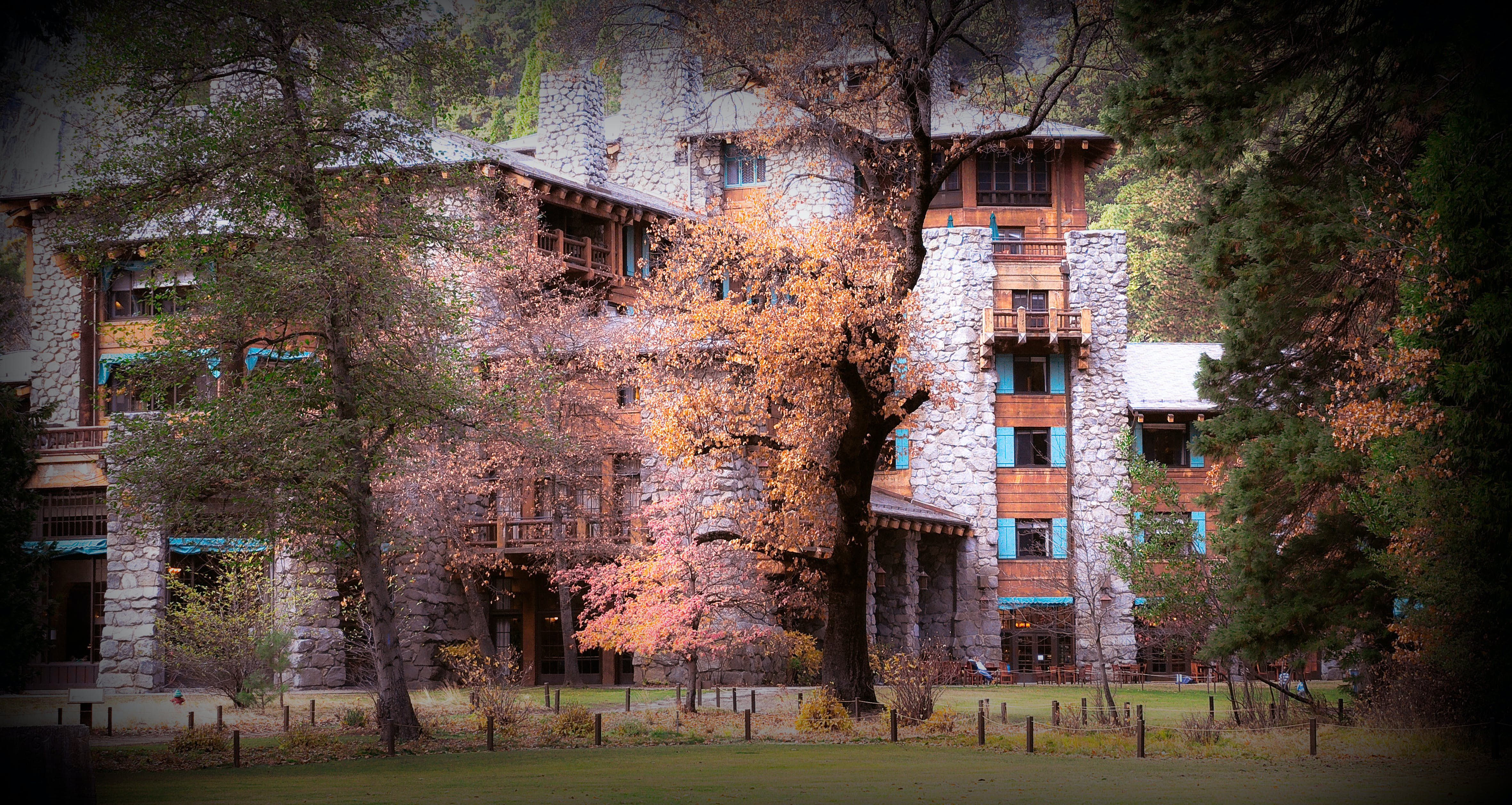 Free stock photo of ahwahnee, fall, forest, forest hotel