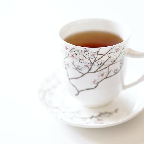 Çay, Çay bardağı, çiçekli, içki içeren Ücretsiz stok fotoğraf