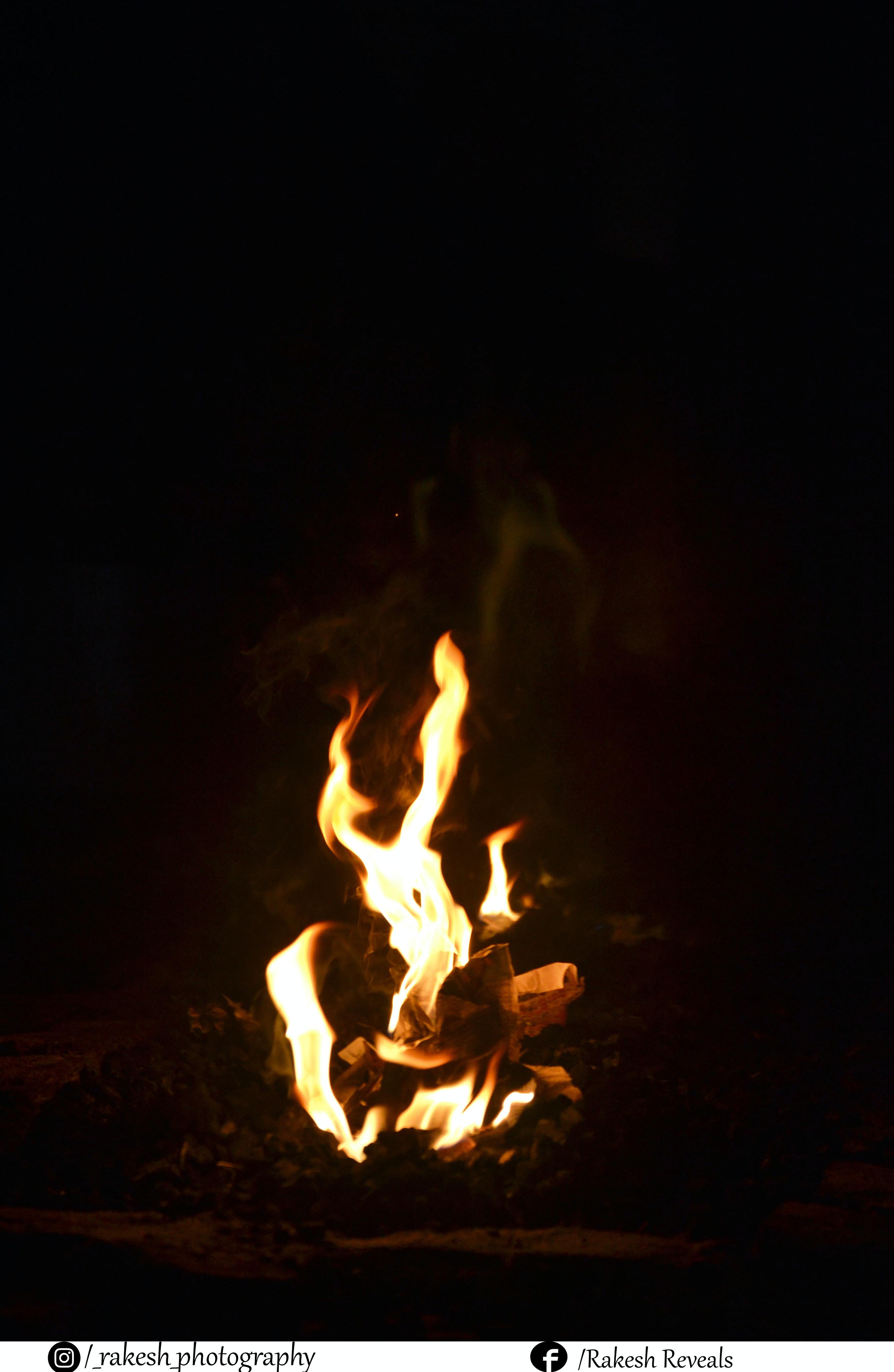 Free stock photo of fire, night