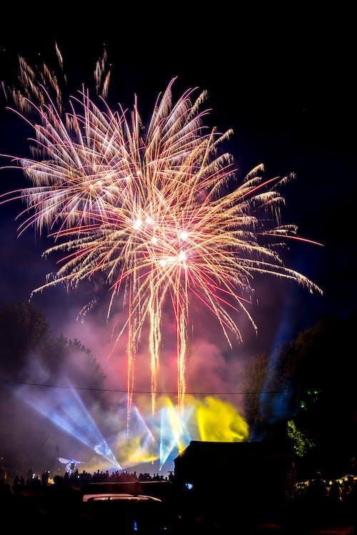 fajerwerki, festiwal, jasny
