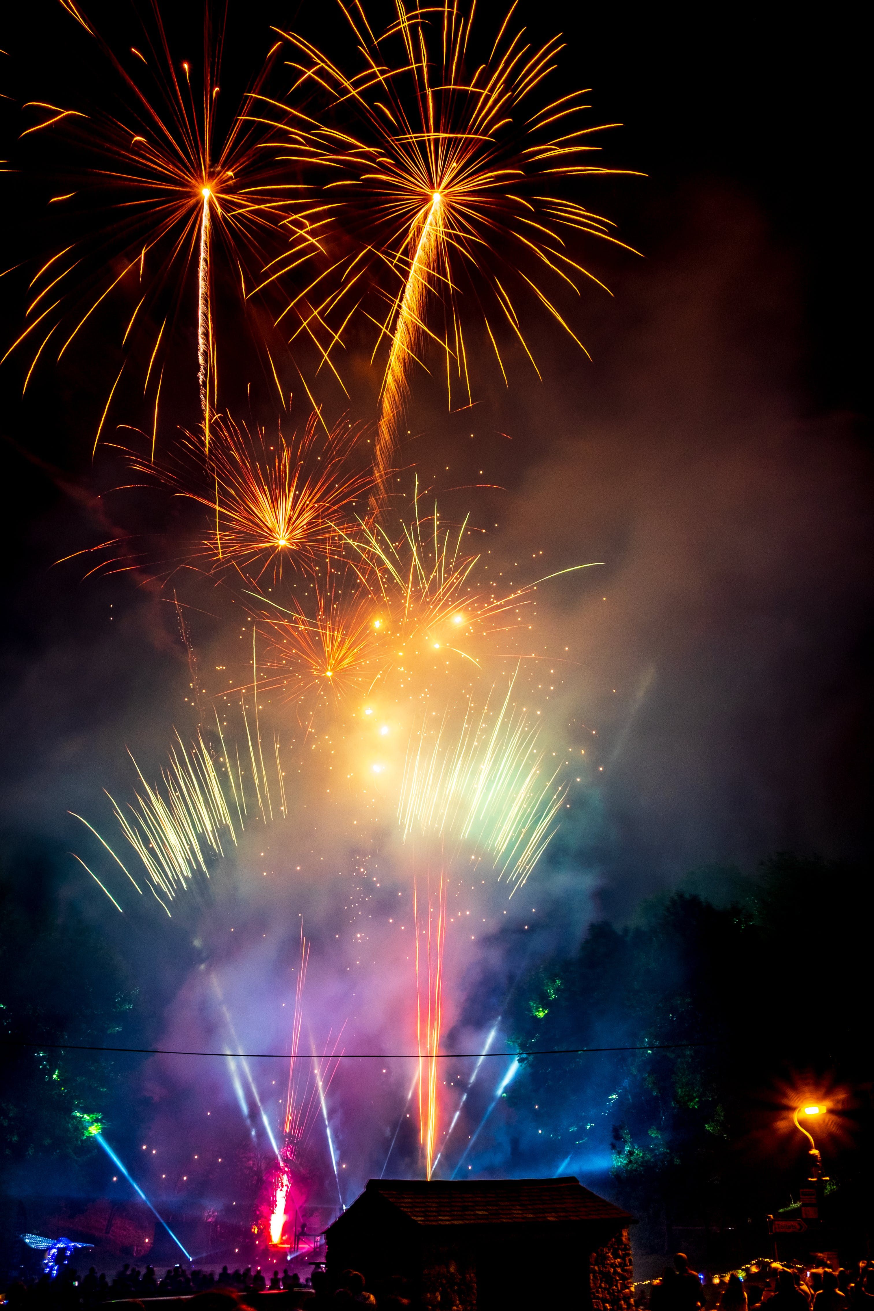 Fireworks During Night Time