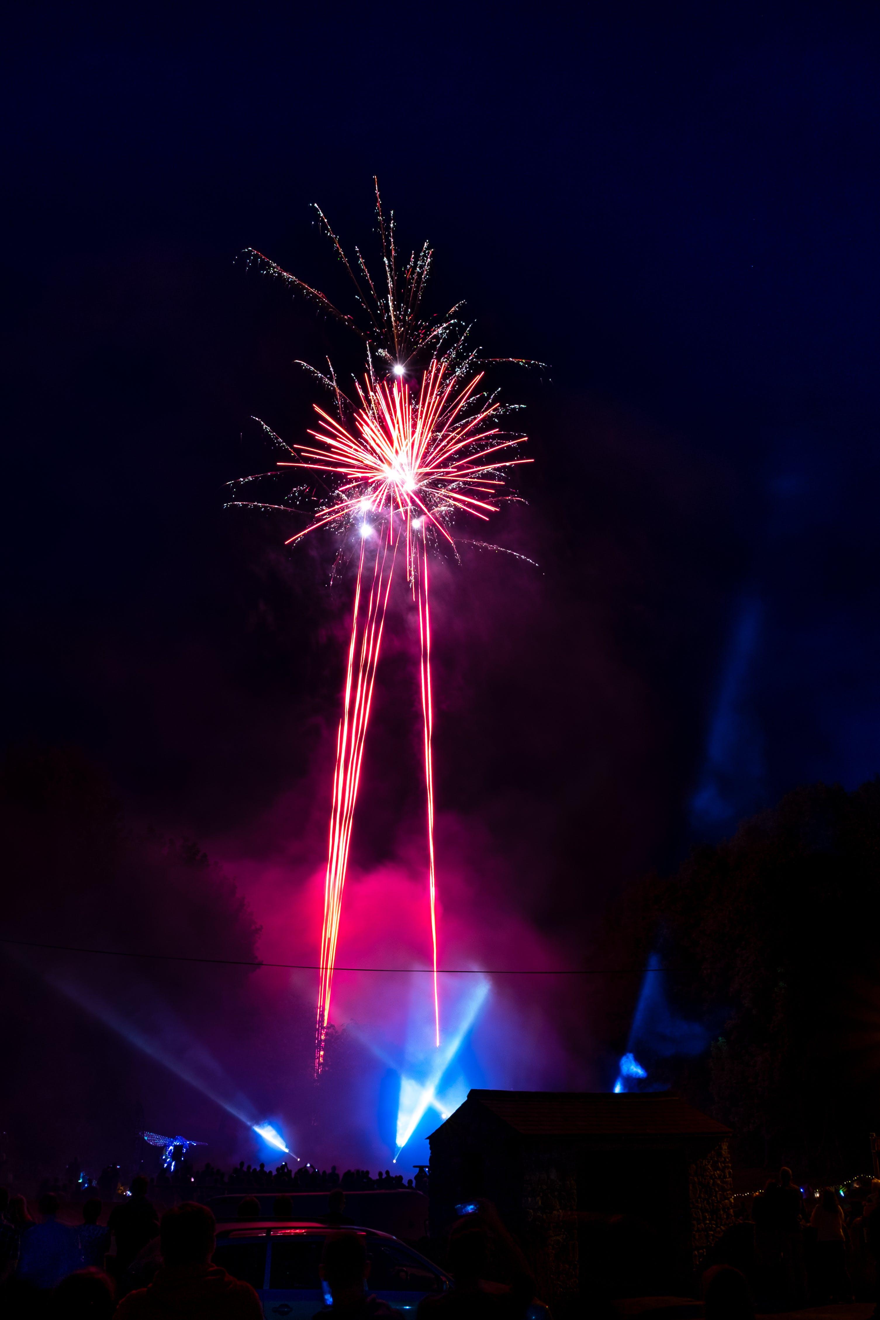 Kostenloses Stock Foto zu explosion, feier, himmel, nacht
