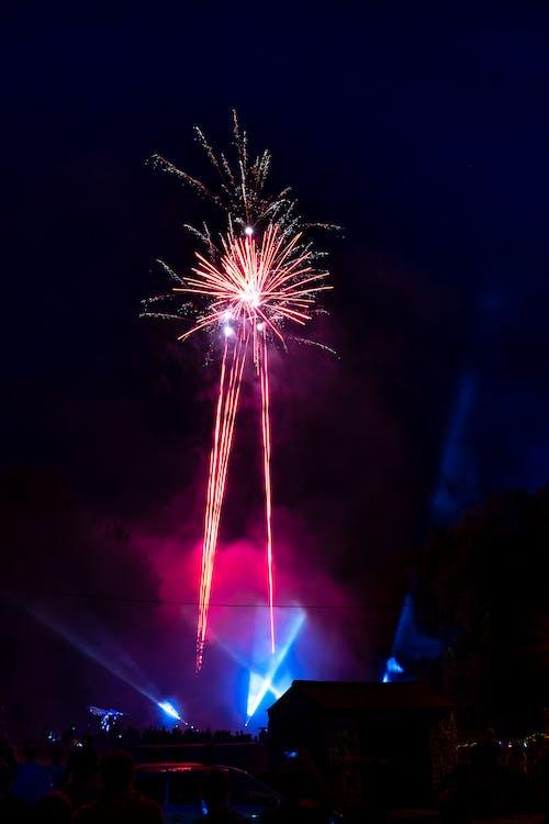 天空, 慶祝, 新年